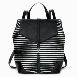 Stella & Dot Striped Flap Top Small Backpack